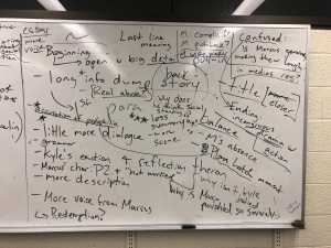 The board in workshop on an average Tuesday night.